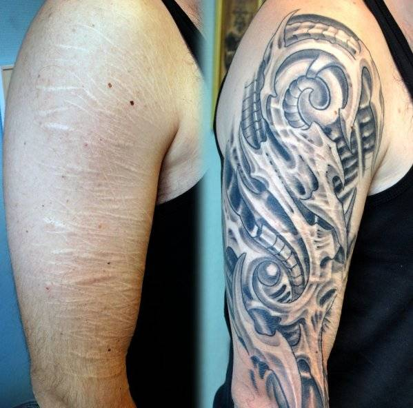 Tatuaggio per coprire smagliature braccia