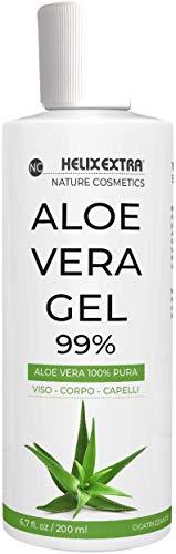 Aloe Vera Gel 100%, aloe vera gel puro e biologico. Per Viso, Corpo e Capelli, per pelli secche e...