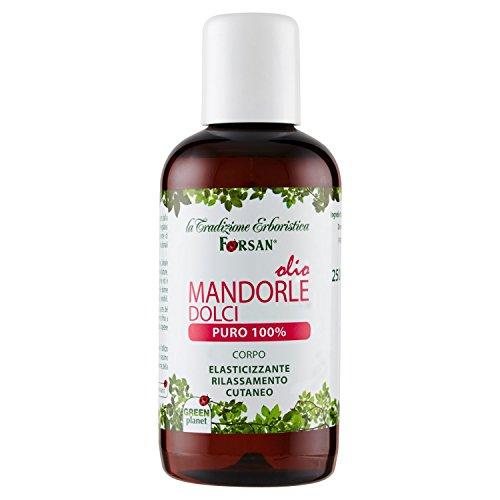La Tradizione Erboristica Forsan - Olio Mandorle Dolci Puro al 100% - Olio senza profumo Ideale per...