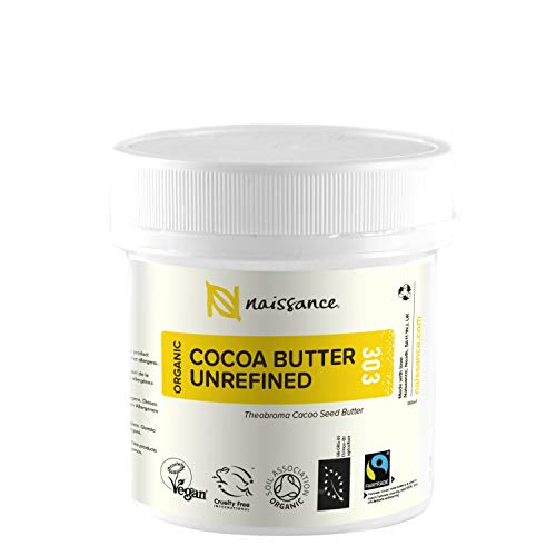 Naissance Burro di Cacao Biologico 100g - Puro, Naturale, Non Raffinato, Certificato Biologico,...
