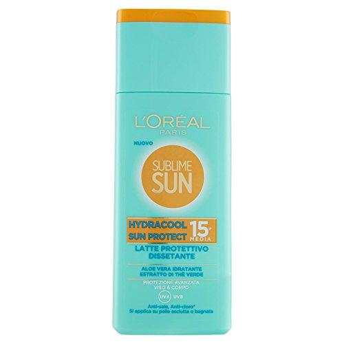 L'Oréal Paris Crema Solare Sublime Sun, Hydracool Sun Protect, Protezione Solare Media IP15...