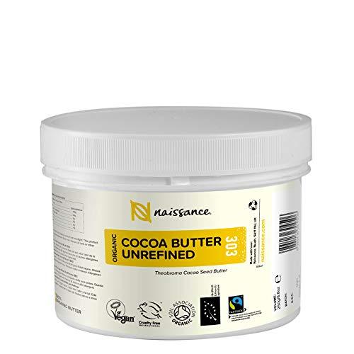 Naissance Burro di Cacao Biologico 250g - Puro, Naturale, Non Raffinato, Certificato Biologico,...