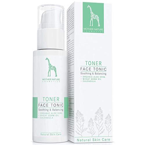 Tonico Detergente Viso con Aloe Vera BIO, Olio di Germe di Grano e Calendula - VEGAN - 125 ml di...
