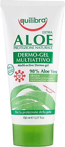 Equilibra Corpo, Aloe Dermo-Gel, Gel Lenitivo a Base di Aloe Vera, Crema Corpo per Arrossamenti,...