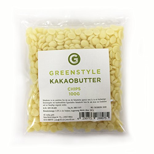 Greenstyle - Gocce di burro di cacao, 100 g