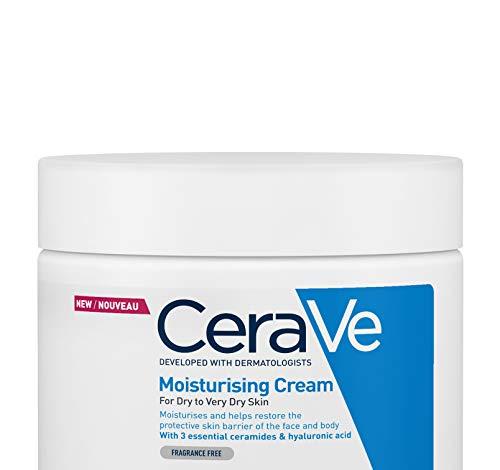 CeraVe, Crema Idratante, 454g / 16oz, Crema idratante quotidiana per viso, corpo e mani per...