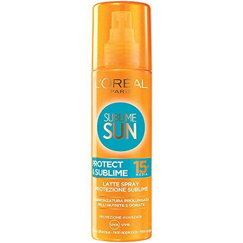 L'Oréal Paris Sublime Sun Protect & Sublime Protezione Solare Spray Abbronzatura Intensa IP 15, 200...