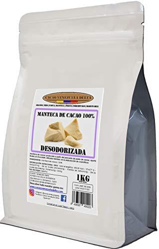Cacao Venezuela Delta · Burro di cacao 100% · Deodorato · 1kg - Qualità extra