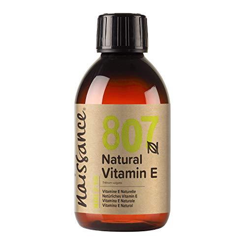 Naissance Olio di Vitamina E Naturale 250ml - Naturale, Vegano, Cruelty Free - Idratante e...