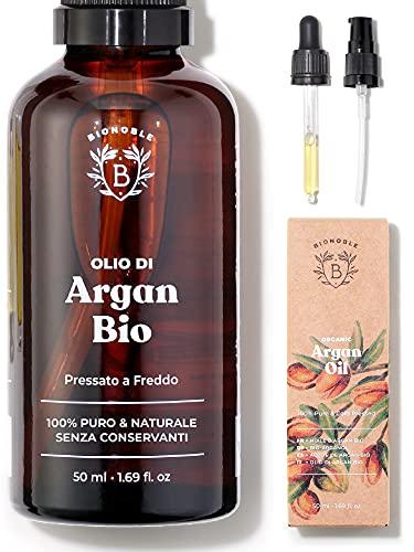 OLIO DI ARGAN PURO BIOLOGICO | 100% Puro, Naturale e Pressato a Freddo | Viso, Corpo, Capelli,...