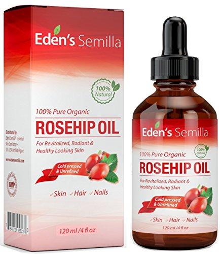 Olio di Rosa Mosqueta Puro al 100% - 120ml - Certificato BIOLOGICO - Rivitalizza pelle e capelli -...