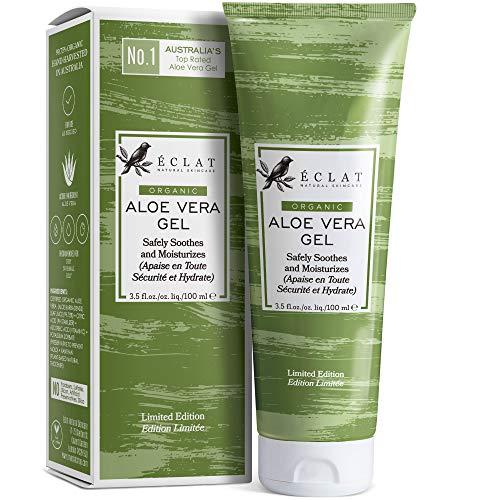 100% Gel Aloe Veral Bio Eclat – Gel Aloe Vera Naturale Viso, Corpo e Capelli con Vitamina C e Olio...