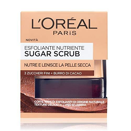 L'Oréal Paris Detergenza Sugar Scrub Esfoliante Nutriente Viso & Labbra con Cristalli Fini di...
