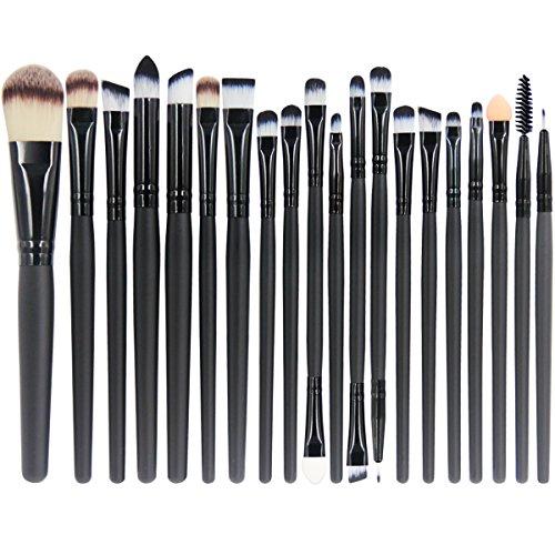 EmaxDesign 20 pezzi-Set di pennelli professionali per trucco, volto ombretti e Eyeliner Powder...